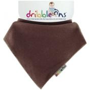 DribbleOns Unisex Baby Bib Chocolate 0-24 months