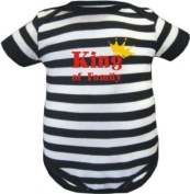 Striped baby bodysuit King of Family / Body in 4 colours