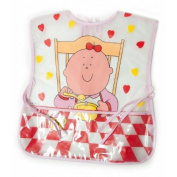 Baby Girl Munch Time Design Peva Painting Bib with Neck Tie (One Size)