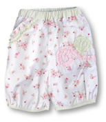Pomme Framboise Paris Tuileries White Flower Trousers, Trousers, Baby girl, 0-3 months