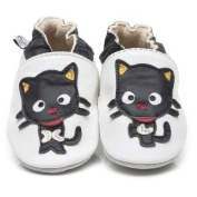 Soft Leather Baby Shoes Black Cat 3-4 years