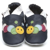 Soft Leather Baby Shoes Caterpillar Black 3-4 years