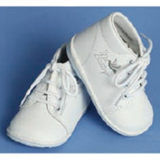 Angels Garment Baby Toddler Boy 1-7 White Embroidered Christening Shoe