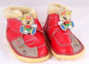 Red leather toddler shoe with cartoon pirate size 16 or UK Size 4