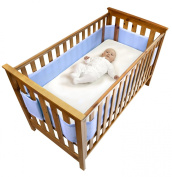 Safe Dreams 4 Sided Cot Wrap with 100% cotton surface
