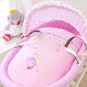 Izziwotnot Humphrey's Corner Lottie Fairy Princess Wicker Moses Basket