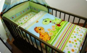 3 PIECE NURSERY BABY BEDDING SET (reg to fit COT 60x120cm) - Dino Green