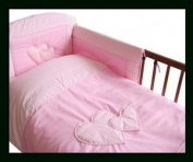 MDSS 3 Pcs Baby Bedding Set/Bumper To Fit Cot 120X 60Cm Pink