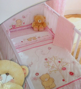 Luxury Percale Baby Forever Friends Beautiful 5 Piece Cot Bed Bale Set