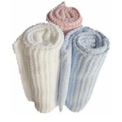 Soft Touch Cellular Cotton Baby Blanket - Cot Size 140cmx90cm