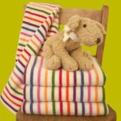 Multi Stripe Lambswool Baby Blanket Girl