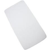 Fitted Cot Sheet - Plain White - Soft Cotton Jersey - 120cm x 60cm x 9cm