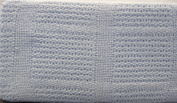 100% Cotton Cellular Baby Blanket for Moses/Prams -Baby Blue