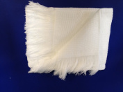 BabywearUK White Baby Shawl with fringing