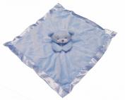 Gorgeous Blue Boys Supersoft Plush Velour Teddy Bear Baby Comforter/Blanket