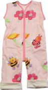 Babies & Kids - Sleeping Jumpsuit for summer Bees & Bugs pink flannel, Size:80 cm