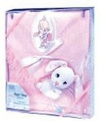 Precious Moment Baby Gift Set. Brush, Comb, Bottle & Shawl