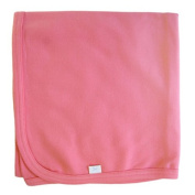 Tuppence and Crumble Organic Cotton Baby Shawl Blanket Candy Pink
