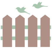 Classic picket fence border with birds by Stickerscape - Available in a choice of colour options - Removable - Wall decal - Wall graphic - Wall art