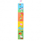 Children's Wooden Farm Themed Height Chart