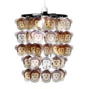 Children's Bedroom/Nursery Cheeky Monkey Faces Ceiling Pendant Light Shade