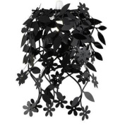 Floral Ceiling Pendant Shade, Black