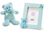 Russ Baby Boy Gift Set - Picture Frame and Teddy Bear