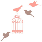 Classic birdcage wall sticker by Stickerscape