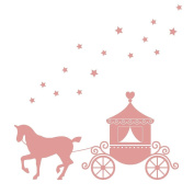 Horse and Carriage wall stickers by Stickerscape (Regular size) - 35cm x 36cm - Part of the Fairies Princess collection