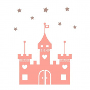 Fairy princess castle with stars by Stickerscape (Regular size) - 38cm x 48cm - Wall decal - Wall art - Wall graphic