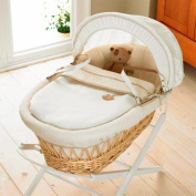 Izziwotnot Gift Natural Wicker Moses Basket