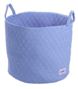 Minene Large Storage Basket Blue Gingha