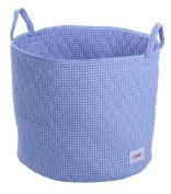 Minene Large Storage Basket Blue Gingha