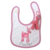 Cutie pie bambi bib and charm