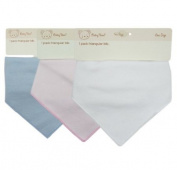 (C10) BABY TOWN Single Pack Baby Boys Baby Girls Plain Bandana Bib in White, Pink or Blue, Babies Bibs