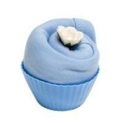 A Fairy Cake with Blue Bib