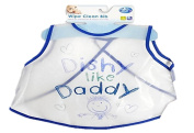 "First Steps Wipe Clean ""Dishy Like Daddy"" Bib"