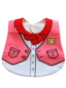 Cool Elves CEP1 Baby/Childs Cowboy Bib in Pink With Popper and Tie Fastenings