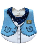 Cool Elves CEDB1 Baby/Childs Cowboy Bib in Light Blue With Popper and Tie Fastenings