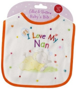 I Love My Nan Elliot & Buttons Baby's Bib