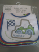 Nursery Time Boys Days Of The Week Easy Fastening Bibs pack of 7