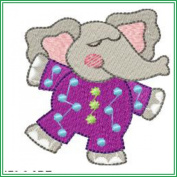 AJPBABYBIBP02103 Embroidered Popover Baby Bib - Cute Animals in PJs
