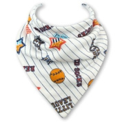 Baby Bandana Bib in LITTLE LEAGUE by Babble Bib