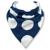 Baby Bandana Bib in GIANT BLUE DOTS by Babble Bib