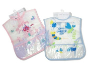 Larger size baby PEVA Bibs with pockets by Nursery Time - Size Girl