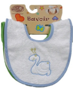 3 Pack Bibs 100% Cotton with Different Animals Bees, Bears, Butterflies... for Boys & Girls