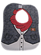 Cool Elves CEDB2 Baby/Childs Cowboy Bib in Denim Blue With Popper and Tie Fastenings