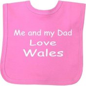 Me and my Dad Love Wales hook and loop Baby Bib in 9 Colours - 100% Cotton