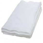 WHITE X3 100% COTTON MUSLIN SQUARES, 70 x 70 cm JUNIOR JOY BRAND OR BEE BO BRAND