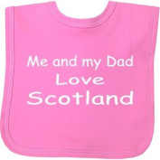 Me and my Dad Love Scotland hook and loop Baby Bib in 9 Colours - 100% Cotton